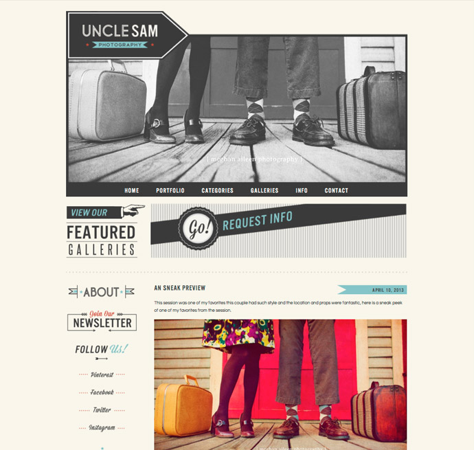 Uncle Sam Blog Design